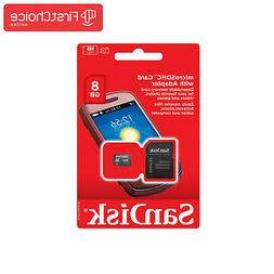 SanDisk Micro SD Card 8GB Memory Class 4 Android Nintendo Ce