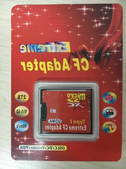 Micro SD SDHC to Compact Flash CF 1 Type I Card Adapter Conv