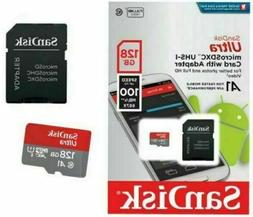 SanDisk Micro SD SDXC Ultra Memory Card Class 10 128 GB 256