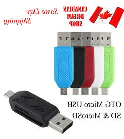 Micro SD TF memory Card Reader Micro USB 2.0 OTG Adapter for