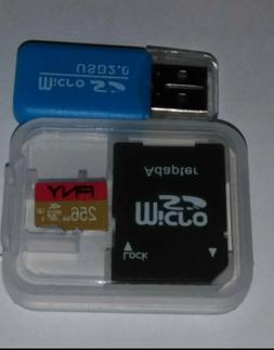 PNY Micro SDHC UHS-1 256GB Memory Card with SD Adapter