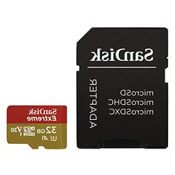 SanDisk Extreme 32GB microSDHC UHS-3 Card - SDSQXAF-032G-GN6