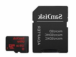 Mini SD Card 128GB Class 10 with Adapter SanDisk Fast Micro