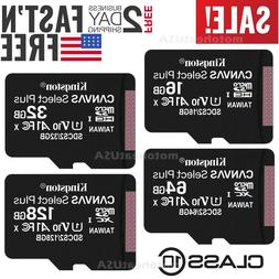 Kingston 16G 32G 64G 128G Micro SD UHS-I Class 10 Memory Car