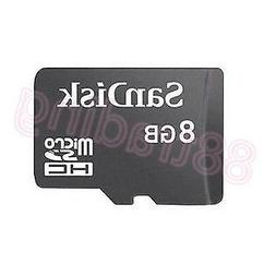 New 8GB San Disk Micro SD + Memory Card Reader FOR MOBILE PH