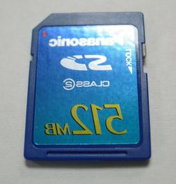 Original Panasonic 512MB SD Memory Card  - NEW