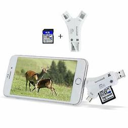 Betionol SD Card Reader for Trail Camera/SLR Camera with 32G