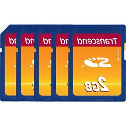 Lot of 25 Transcend 2 GB SD Flash Memory Card