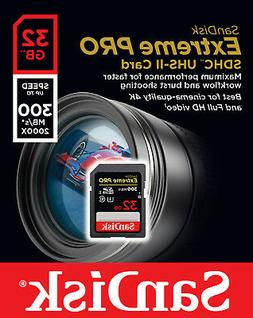 SanDisk 32GB 300MB/s 32G Extreme PRO SD SDHC Card Class 10 U