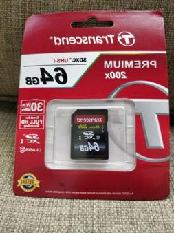 Transcend SD SDXC 64GB Class 10 UHS-1 Memory Card for Nikon