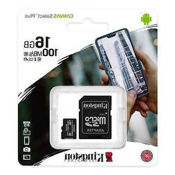 Kingston Speed 100mb 16gb Micro Sd Sdhc Class10 Memory Card
