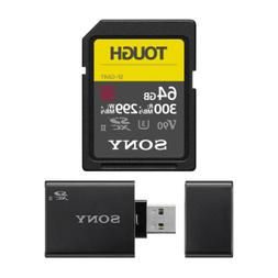 Sony 64GB UHS-II SD Card,  W/ Sony SD UHS-II USB Reader/Writ