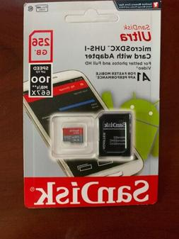 SanDisk Ultra 256 GB Micro SD XC UHS-I Card SDSQUAR-256G-GN6