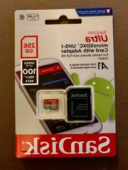 SanDisk Ultra 256 GB Micro SD XC UHS-I Class 10 Memory Card