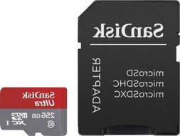 SanDisk Ultra 256GB Class 10 Micro SD XC UHS-I Memory Card w