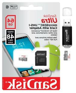 SanDisk Ultra 64GB Micro SD Card Adapter GoPro HERO6 Session