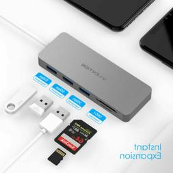 LENTION USB Type-A to USB 3.0 Hub Splitter Adapter SD Card R